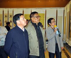 寿县举办县政协成立60周年书画展