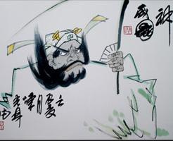 陈光林钟馗画欣赏